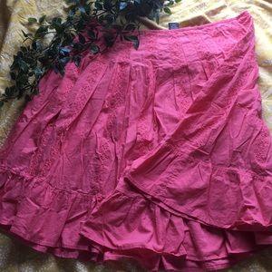 Dresses & Skirts - Pink eyelet skirt